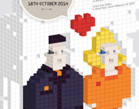 Pixelated Wedding Invitation & Stationery