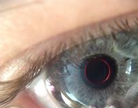 Blue/red eye