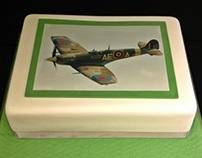 Spitfire edible image cake