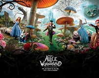 Alice In wonderland recreated with paper