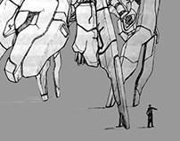 Cargo-Bug ships / Drawing