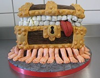 Discworld Luggage Cake