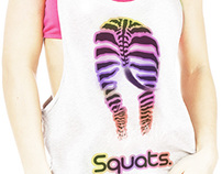 Squats. Loose workout Tank Top Design