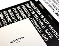 Zine - Helvetica: Love it / Hate it