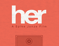 Her Minimalistic Movie Poster