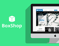 BoxShop - An Ecommerce Template PSD
