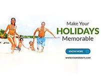 Travel - Vacation Web Ad Marketing Banner Vol 2