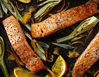 Salmon with Fennel & Oranges.