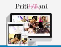 Pritihairani.com - Website, Logo and Business Design