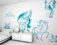 in the moonlight :: children's wall decals