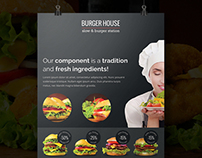 Burger House - Flyer (A4 and US Letter)