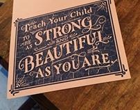 Strong & Beautiful Letterpress Process