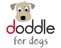 """Doddle for Dogs"" Logo and Branding Designs"