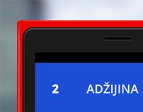 Zagreb transport windows phone app UI redesign