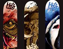 Skateboard Deck Design - Ferocious Animals