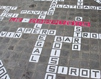 Street Art - Scrabble for a french cafe