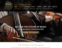 Web Mock-up» KM Music Conservatory | AR Rahman