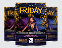 Friday Fire Party Flyer / Poster - 16