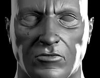 head low poly model