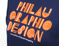 PhilaU Graphic Design T-Shirt & Buttons