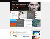 Blog News Web Design