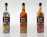 Jackson Pollock Wine Bottle Commemoration