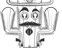 Sheriff Cactus Sticker- Loja Stickeria