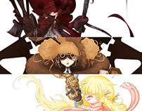 Grimm Character concept Illustrations
