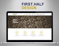 FirstHalf Design Website
