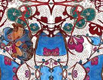 Hidden World / illustrations for textiles