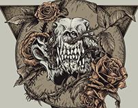 wolfskull&roses