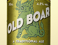 Old Boar beer label design