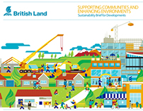 Illustrations for British Land's Sustainability Brief