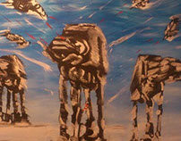 Empire Strikes Back huge canvas