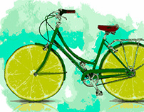 LEMON BIKE - DIGITAL ART / ARTE DIGITAL