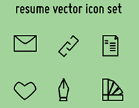 Resume Vector Icon set // free download