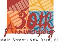 NC Main Street Organization 30th Anniversary logo