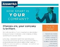AnswerHub Knowledge Management email campaign