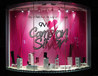 "Nine West ""Cameron Silver"" window display"