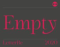 Empty - typeface