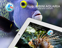 Lumbini Aquaria - website concept