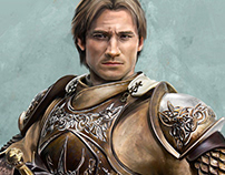 Jaime Lannister portrait (private commission)