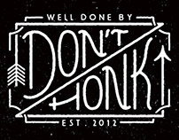 Lettering Logos x Don't Honk