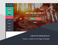 Kozza - Creative One Page Template