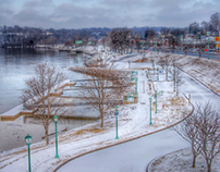 Clarksville in snow.