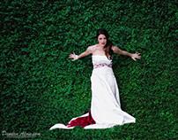 Bridal Portraits - Ivy Wall