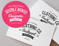 Business card mockup & Vintage Logos