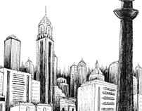 Cities from imagination.