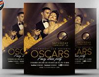 Oscars Fancy Dress Party Flyer Template V2
