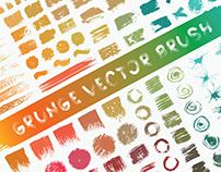 Set of grunge brushes. Create font brush.